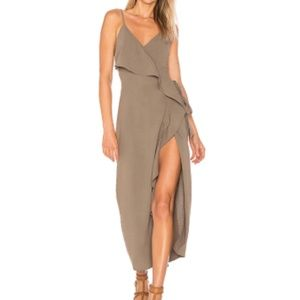 Tularosa Selena Wrap Dress - Olive Green